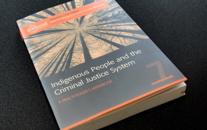 Book Review Indigenous People and the Criminal Justice System A Practitioner's Handbook, by Jonathan Rudin