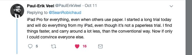 Paul-Erik Veel iPad