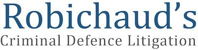 Robichaud's Criminal Lawyers Retina Logo